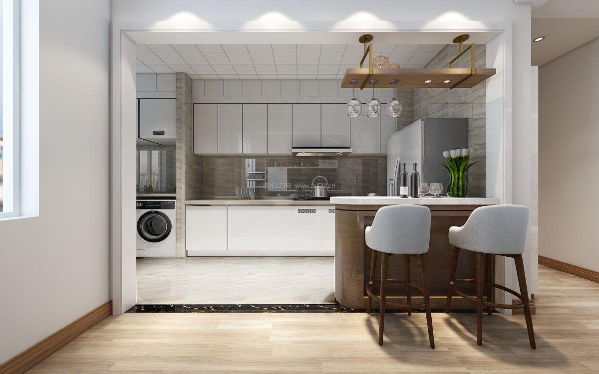 厨房吧台开放式图片