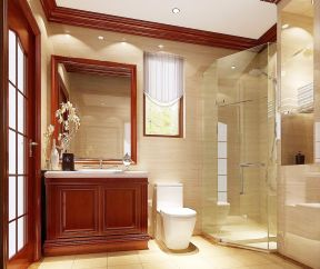 2017东南亚卫生间浴室柜装修效果图