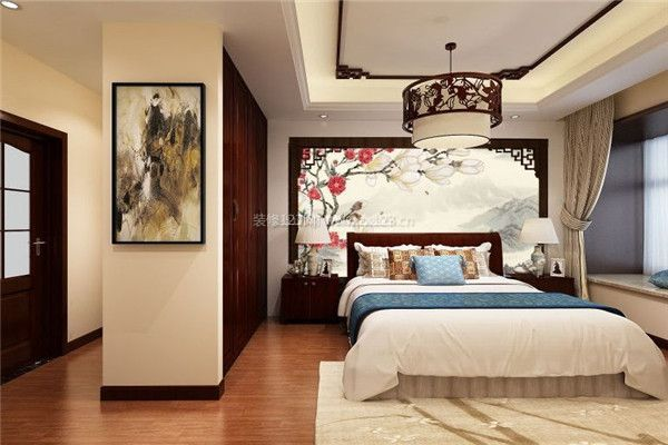 金科廊桥水岸中式卧室效果图