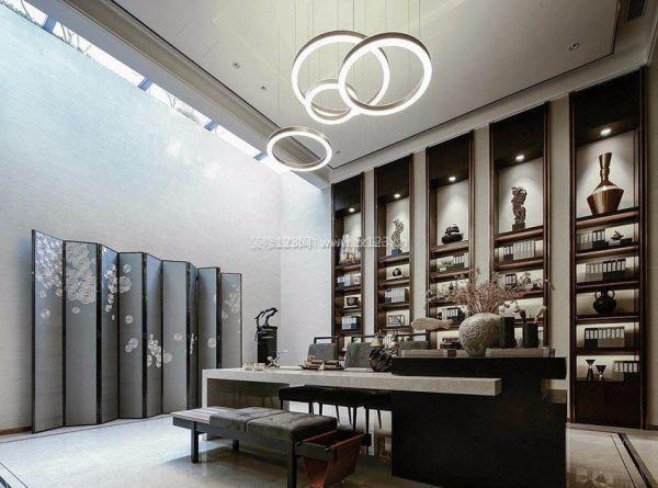 中式书房圆形创意吊灯设计