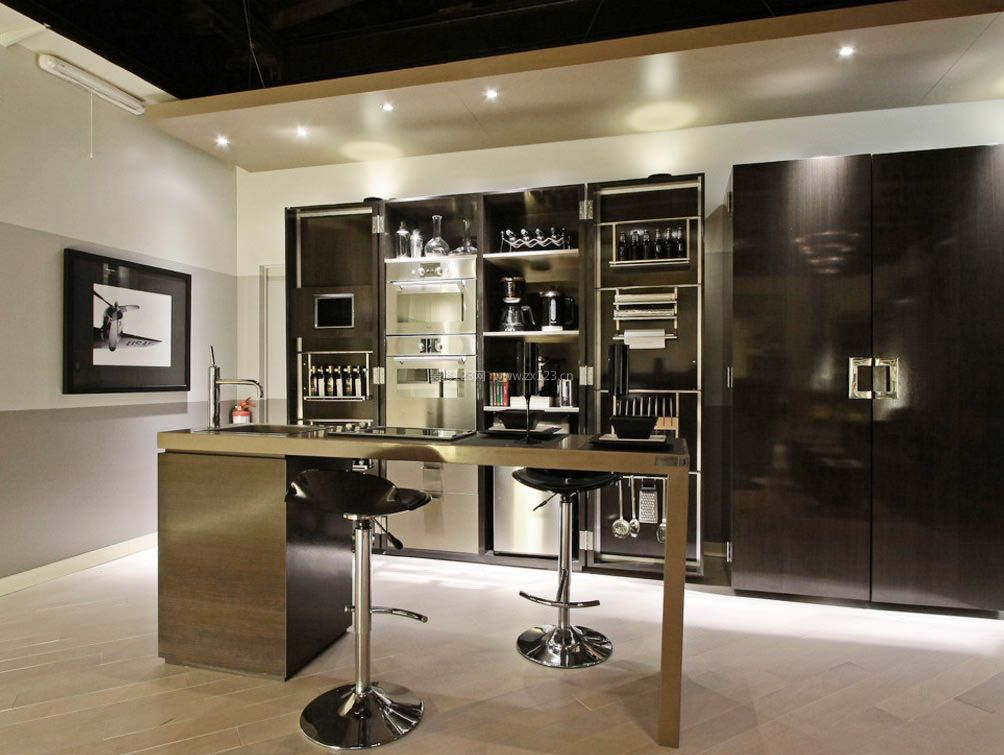 2017现代风格吧台酒柜设计装修图片一览