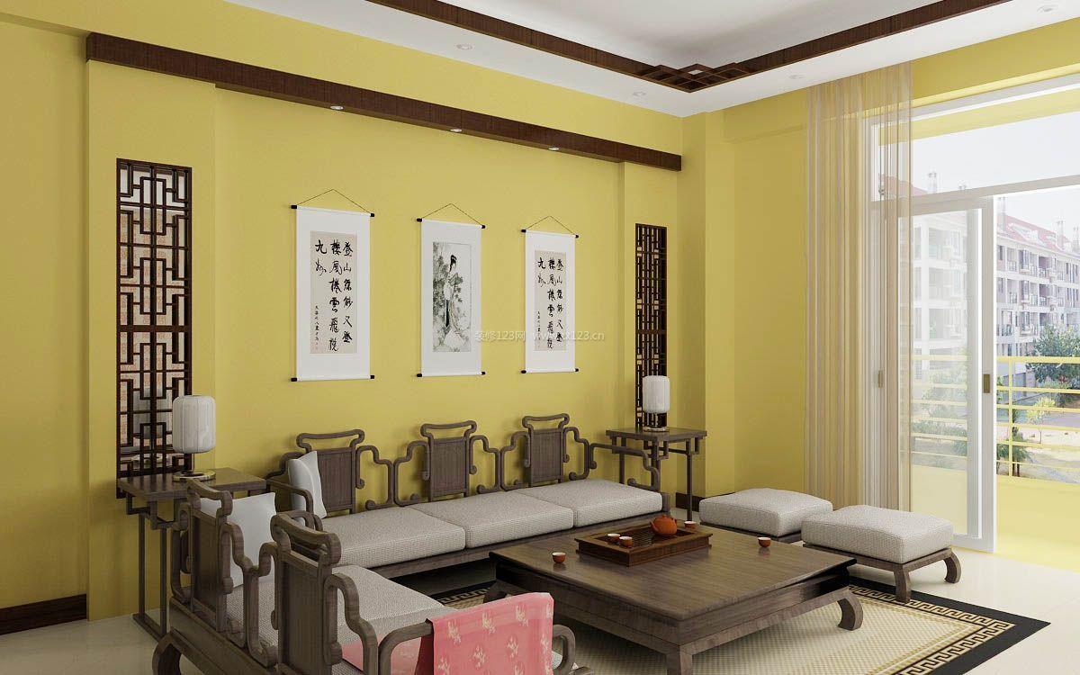 家装效果图 中式 2017中式家庭装修客厅挂画贴图 提供者:   ←