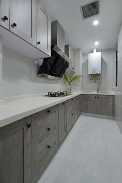 经典厨房灰色橱柜装修效果图大全2015图片