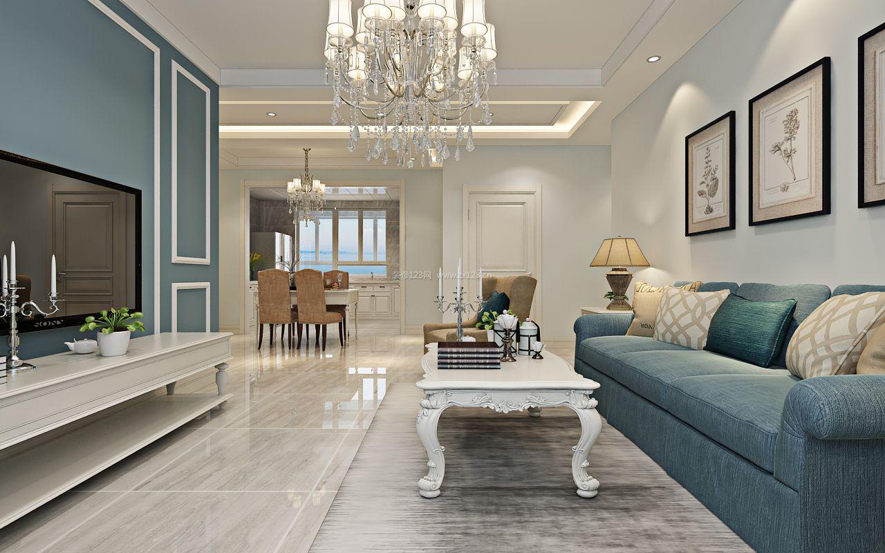 2017现代简欧风格一百平米房子装修效果图片