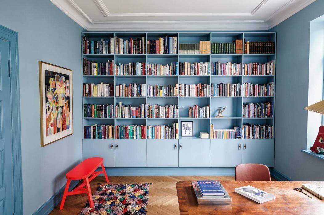 家装效果图 书房 2017别墅书房书柜装饰设计效果图大全 提供者:   ←