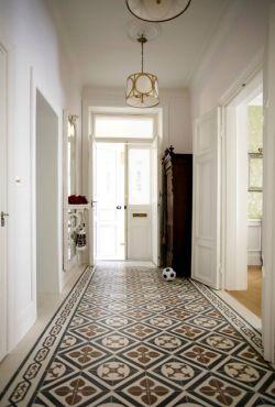 2017中式进门玄关拼花地板高清贴图图片