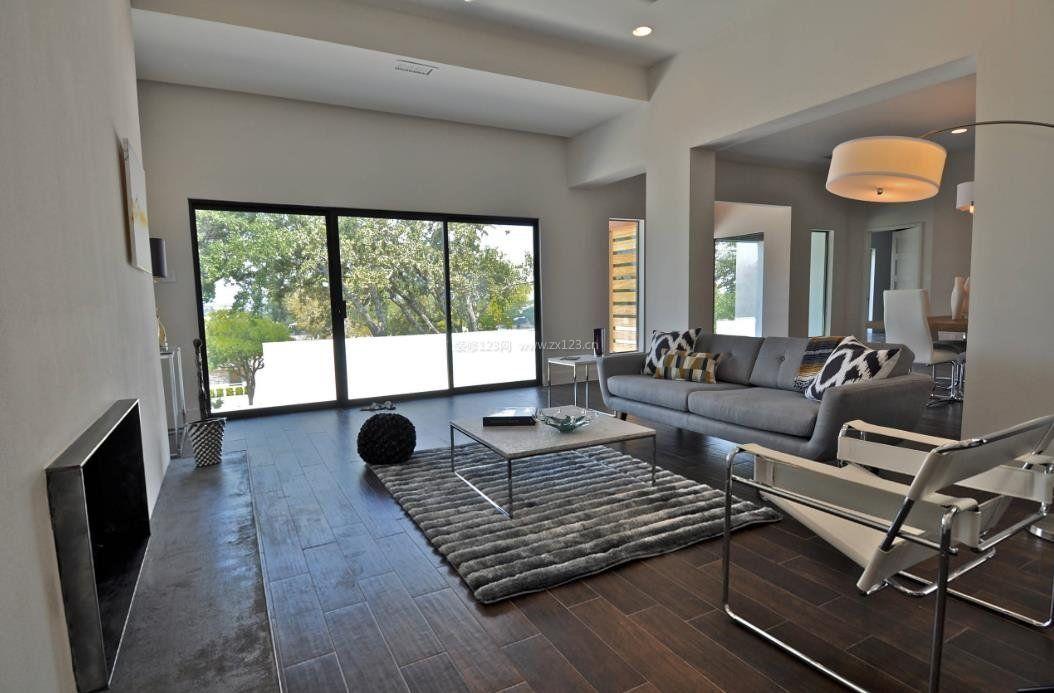 2017年客厅装修木地板贴图图片赏析_装修123效果图