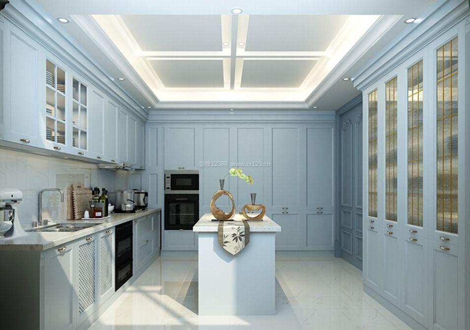 别墅室内法式厨房设计图2018
