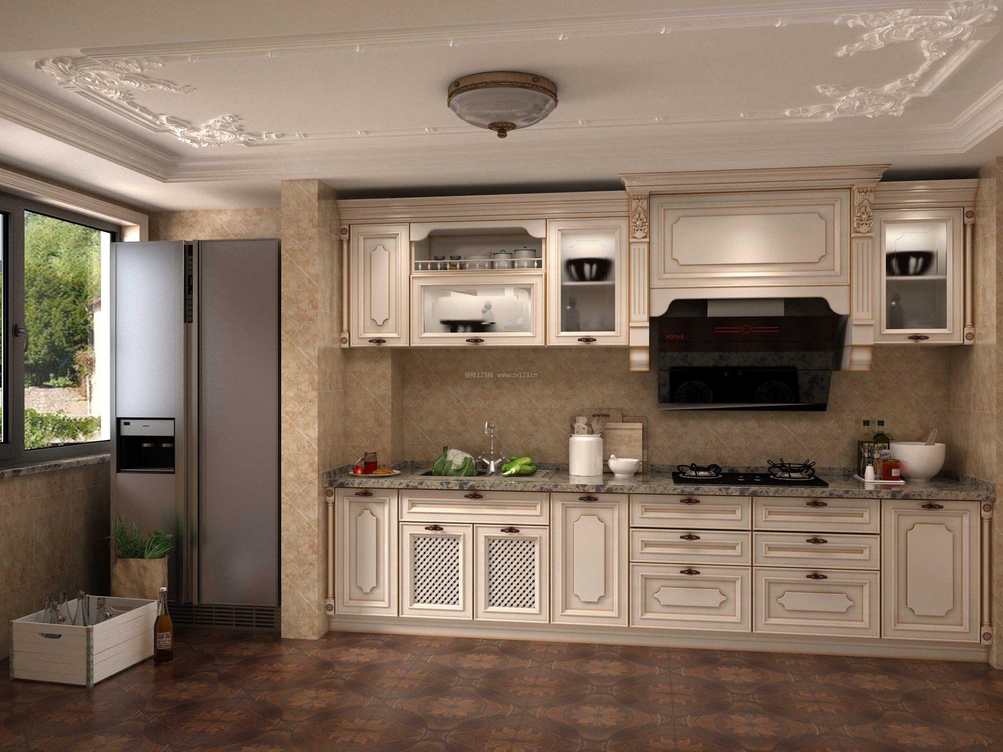 2018法式厨房石膏吊顶设计图图片