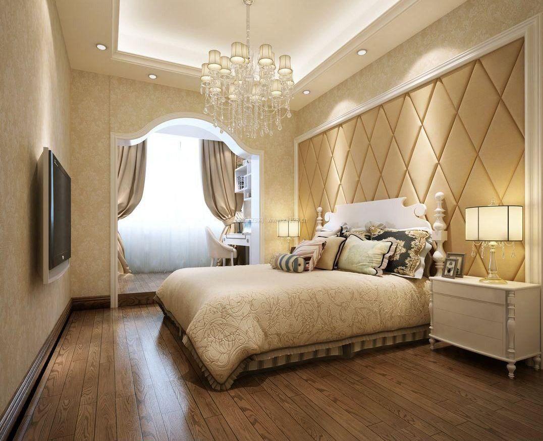 2018主卧室床头背景墙软包图片
