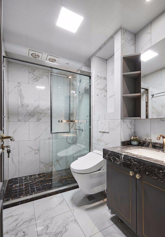 房子卫生间地砖装修效果图2018