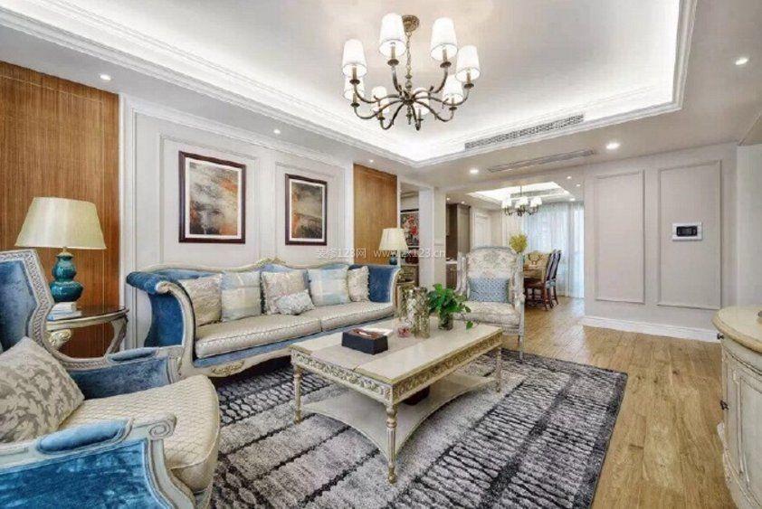 2018房子室内客厅地砖装修效果图片