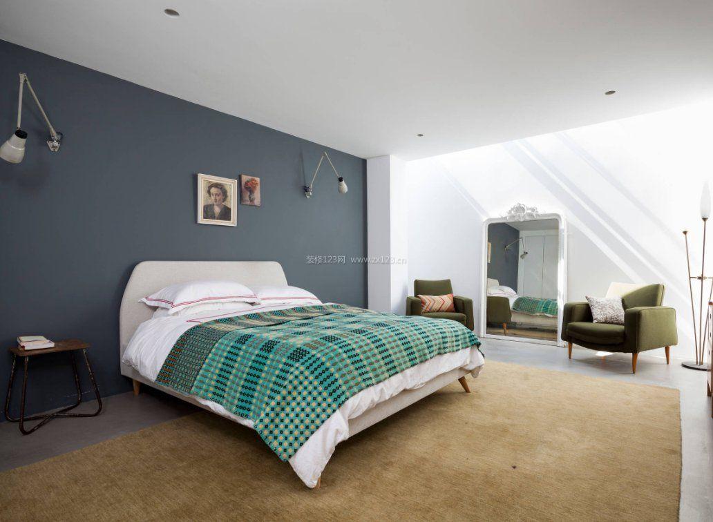 2018单身公寓卧室白色床效果图