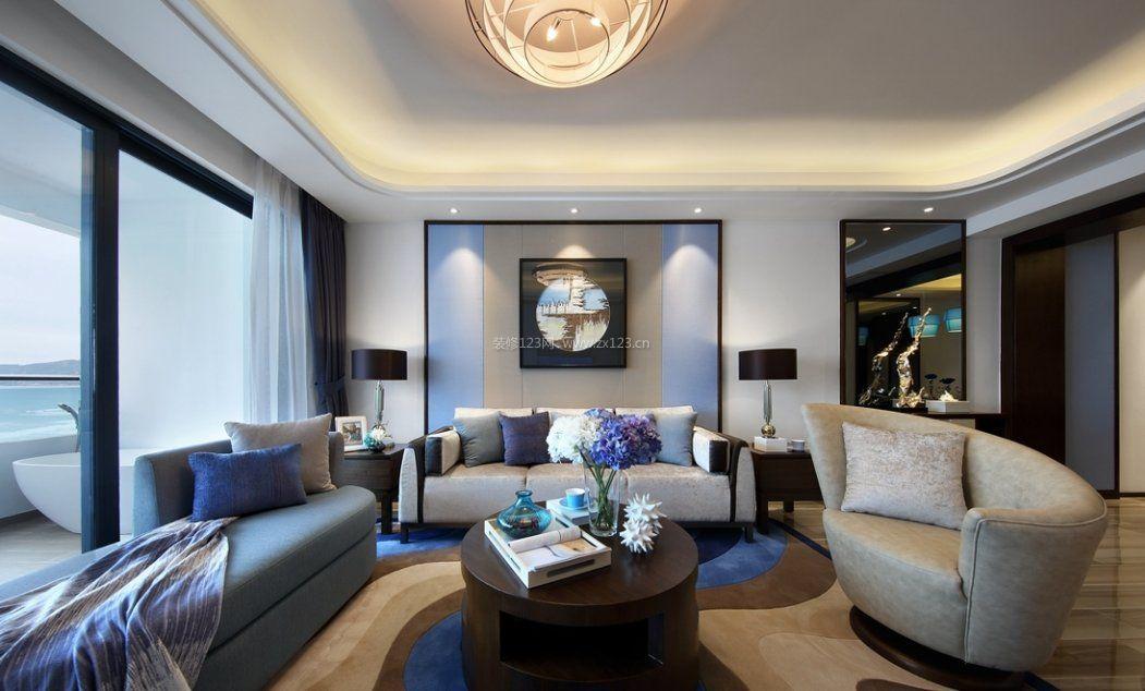103平米房子客厅沙发造型装修效果图