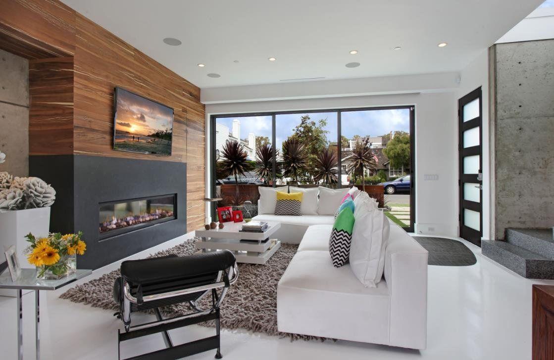 2018室内客厅壁炉电视背景墙效果图
