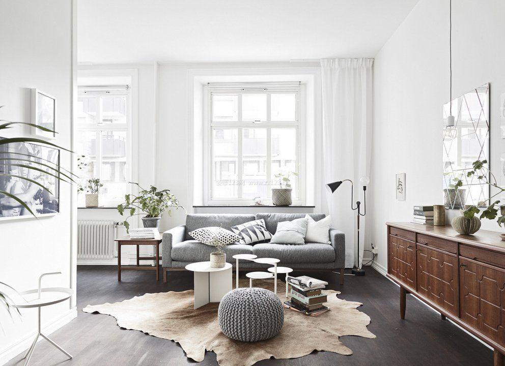 北欧风格客厅家具柜子装饰图片_装修123效果图图片