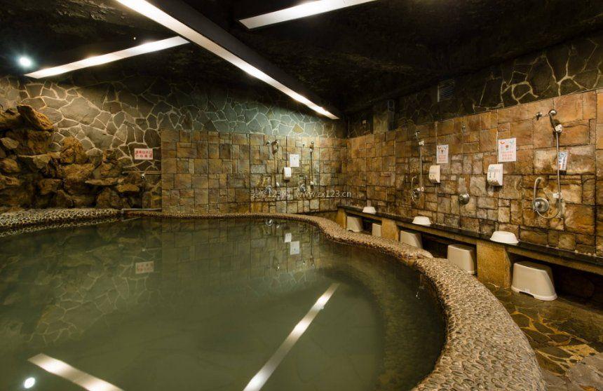 大众浴池背景墙面设计效果图