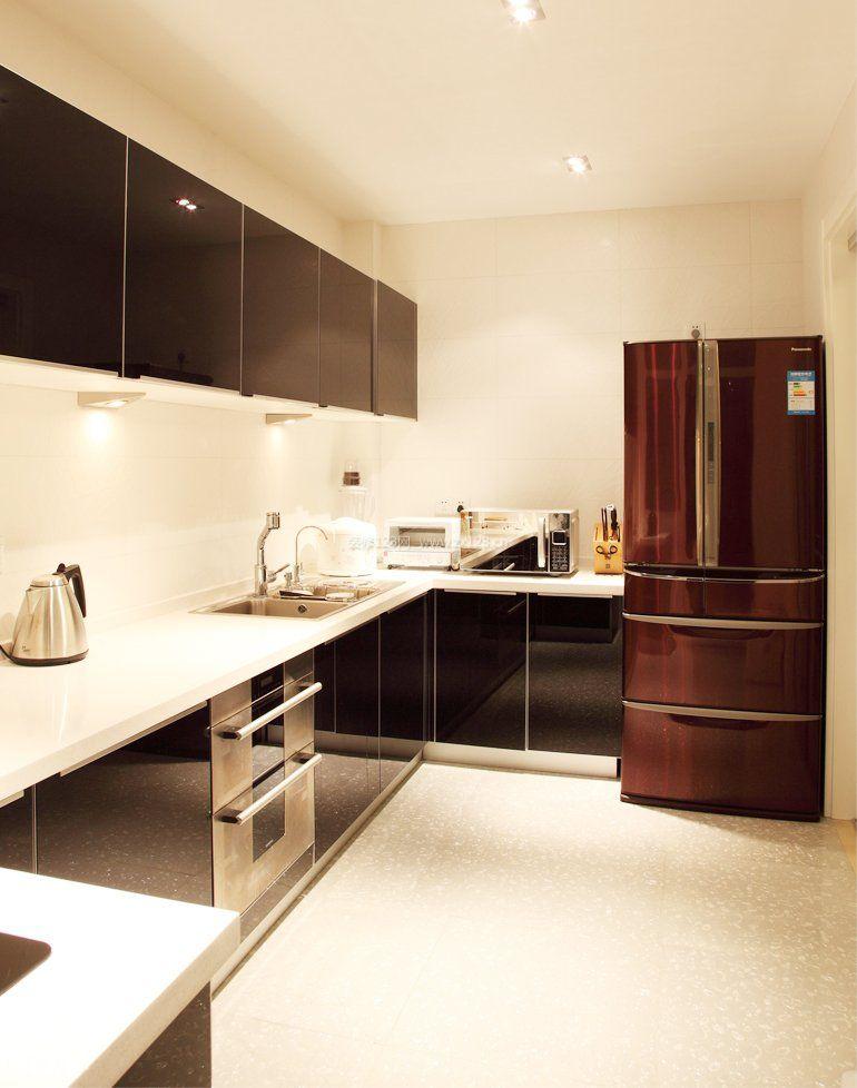 2018厨房布局设计黑白风格