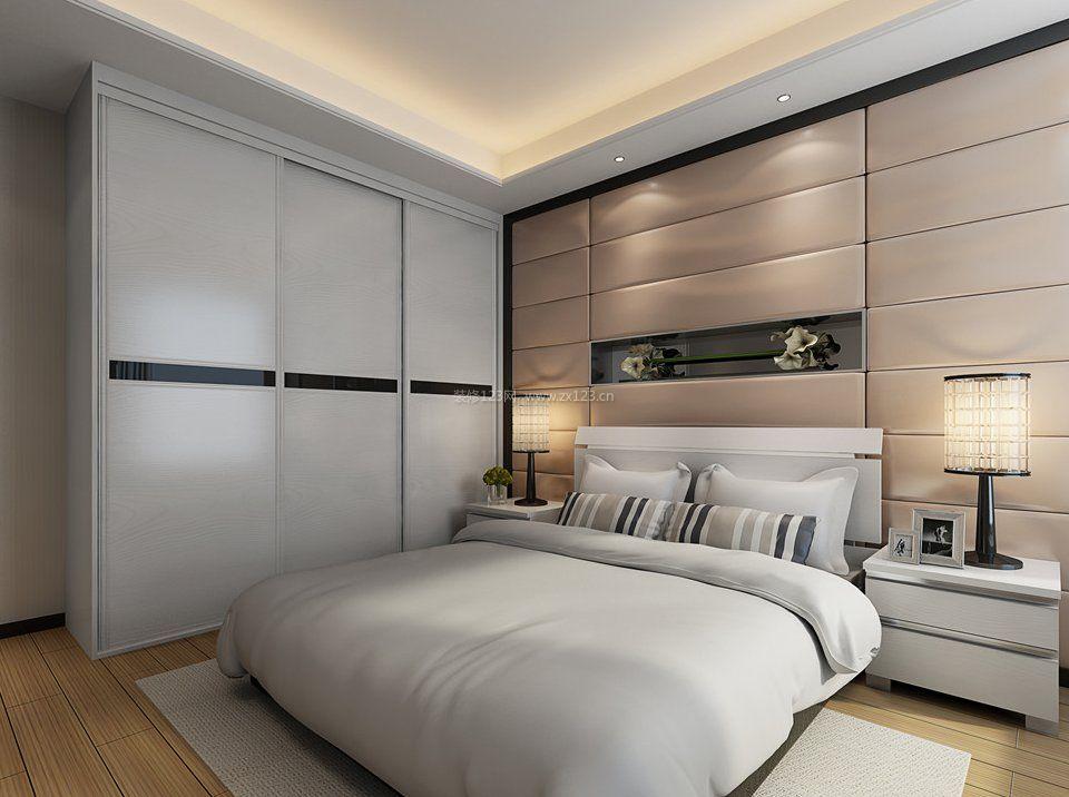 2018卧室白色顶固衣柜设计图