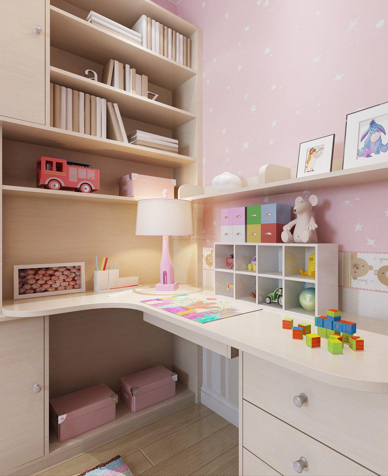 2018现代风格儿童房写字台