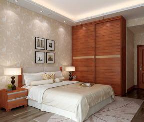 2018现代卧室顶固衣柜设计图图片