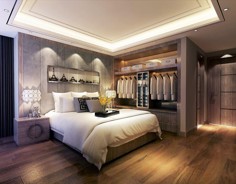 20平米卧室衣柜布置设计效果图片