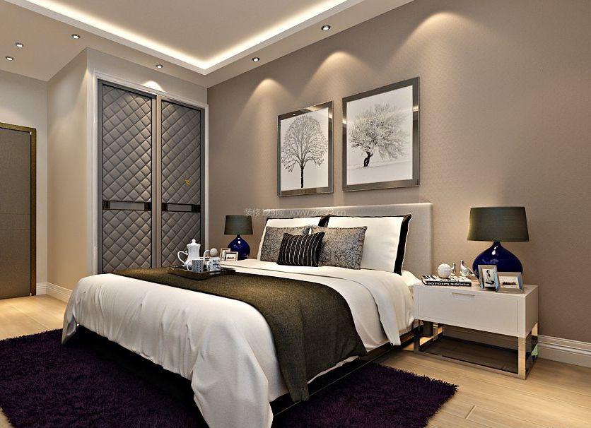 20平米卧室两门衣柜布置设计图片
