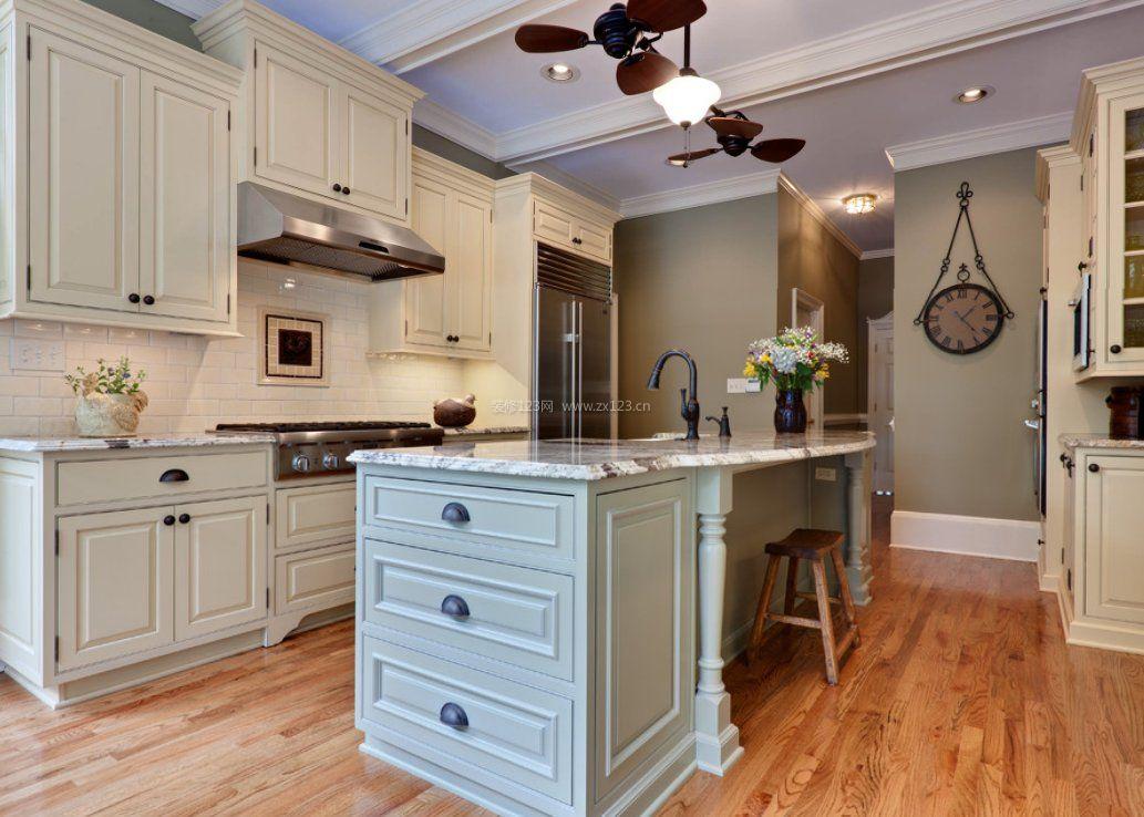 厨房中岛风扇灯图片