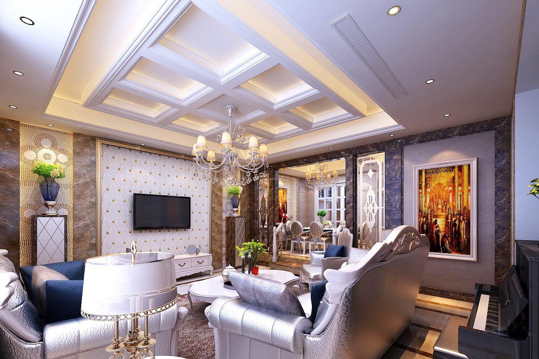 2018豪华家装客厅吊顶设计效果图