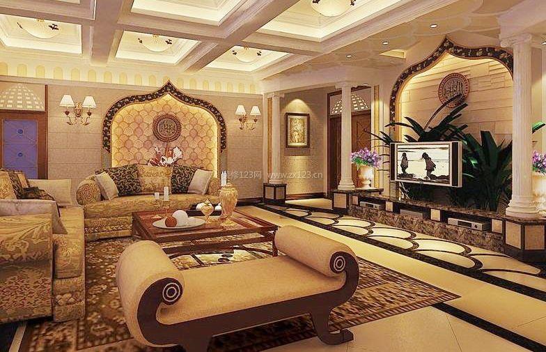 哥特式建筑风格室内装潢设计图片_装修123效果图