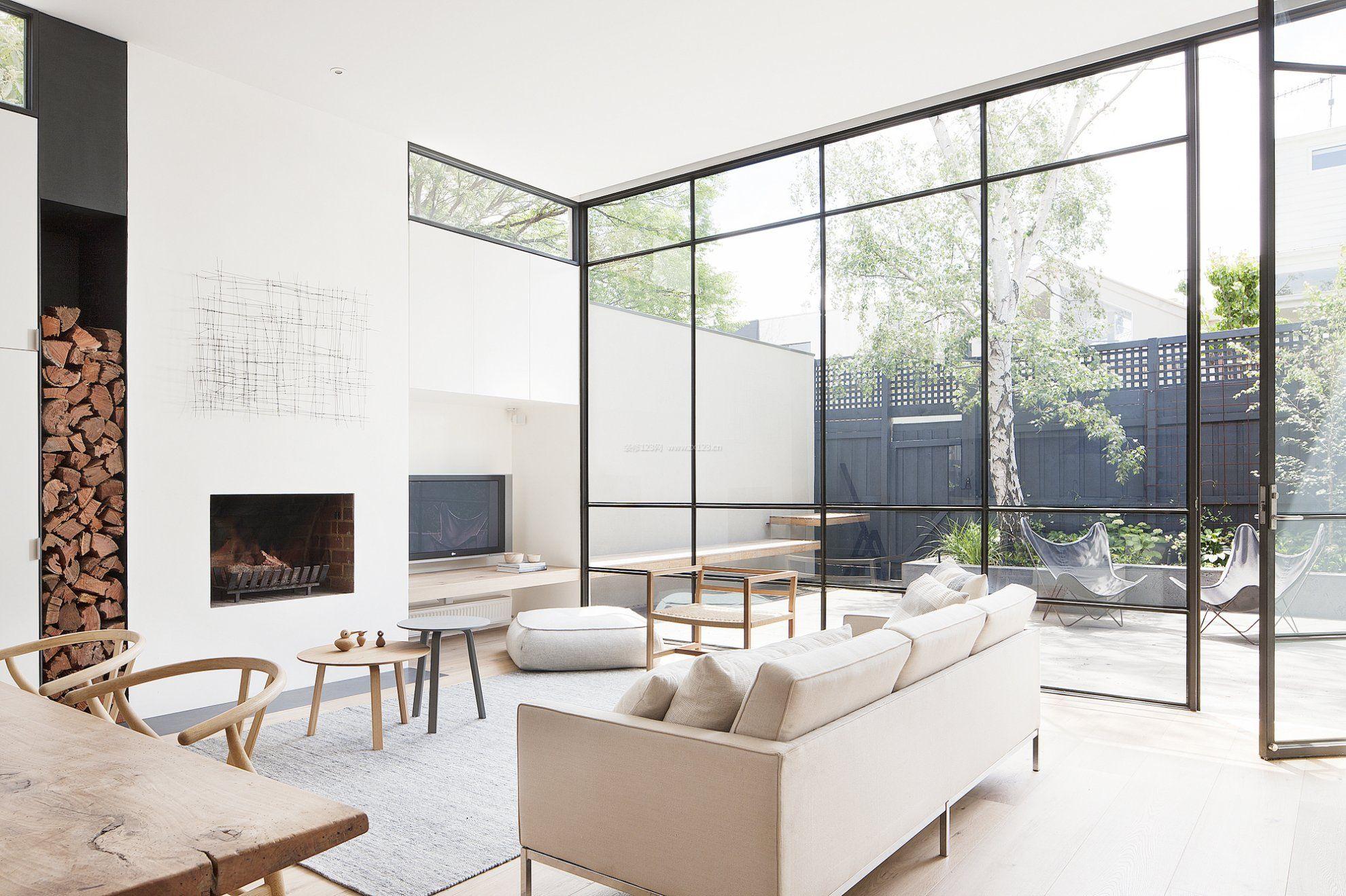 2018客厅大落地窗设计效果图大全图片