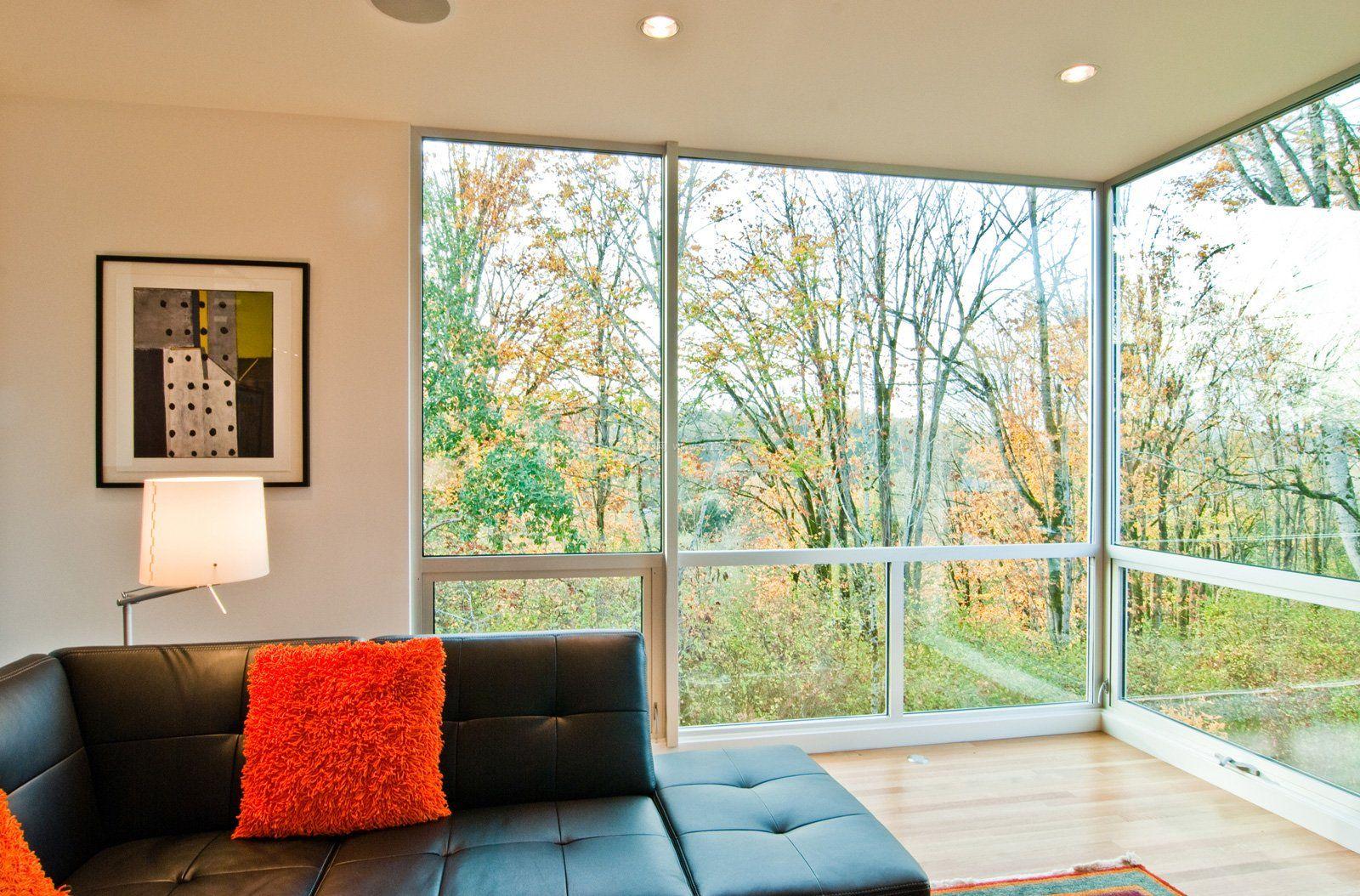 2018别墅客厅大落地窗设计效果图图片