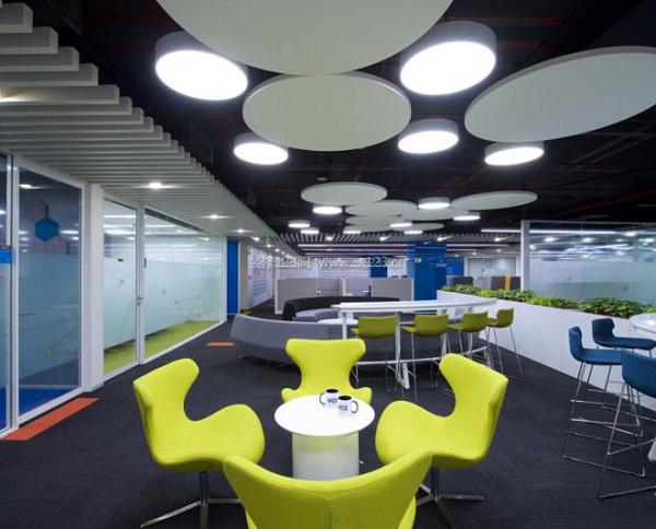 现代办公室吊顶设计装修效果图