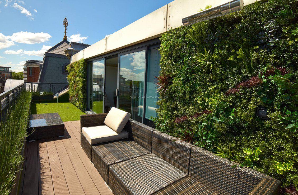 楼顶阳台植物墙设计图