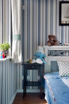 2017简美式卧室设计图 小窗户窗帘效果图