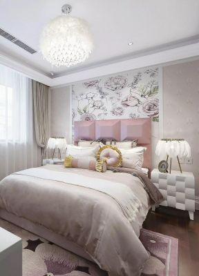 好看的女生房间床头壁纸花纹设计欣赏