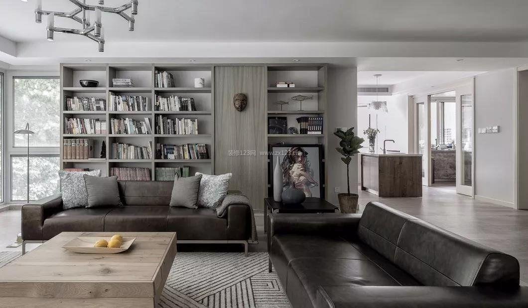 2018北欧风格家居客厅沙发摆放图片