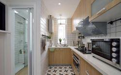 1室1廳長廚房裝飾設計圖