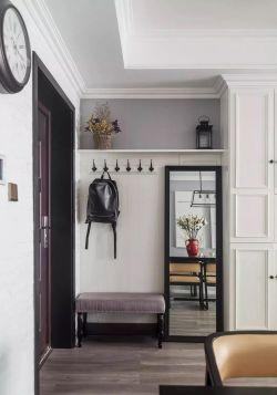 美式简约风格餐厅背景墙镜子装饰装修效果图
