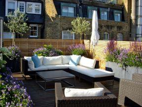 顶楼露台休闲花园装修效果图