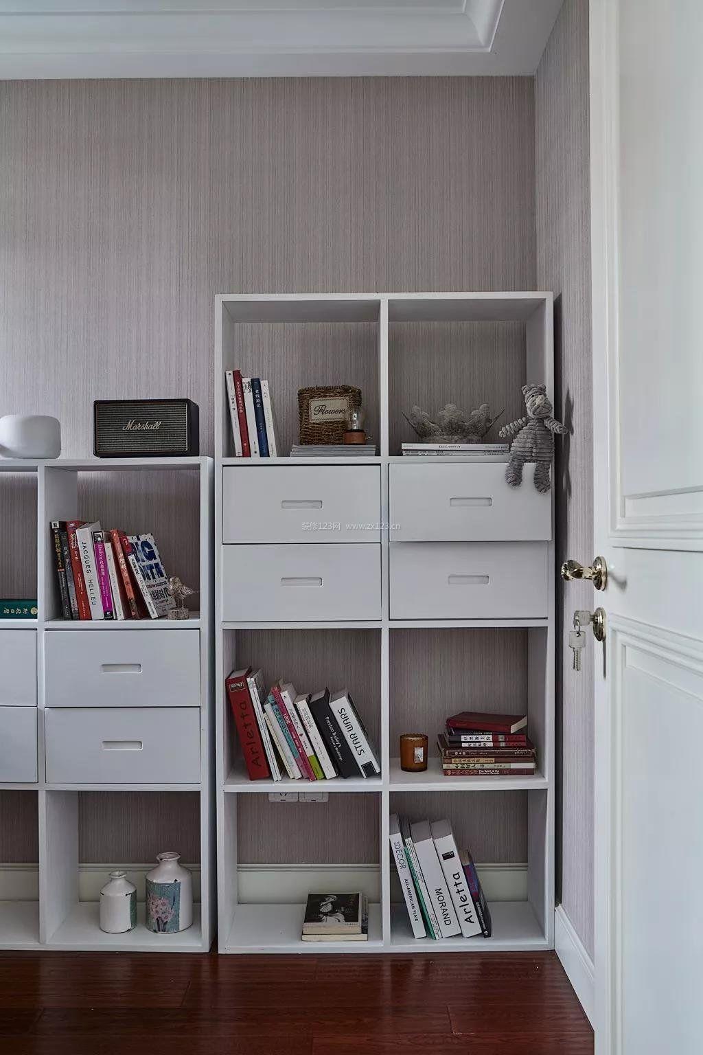 2018宜家书房书柜装修样板间_装修123效果图图片