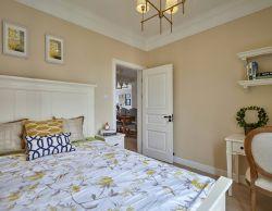 美式混搭卧室硅藻泥背景墙装修效果图图片