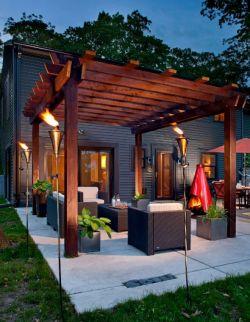 茶馆木质沙发设计图片_装修123效果图图片
