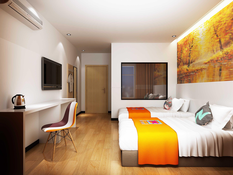 商务宾馆双人间装修设计效果图片
