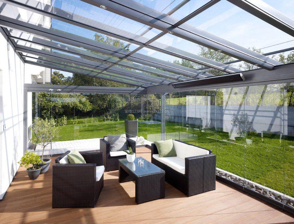 家庭别墅阳光房玻璃屋装修效果图图片