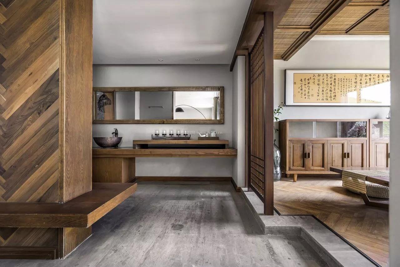 家装效果图 中式 2018新中式豪宅实木柜子装修效果图 提供者:   ←图片