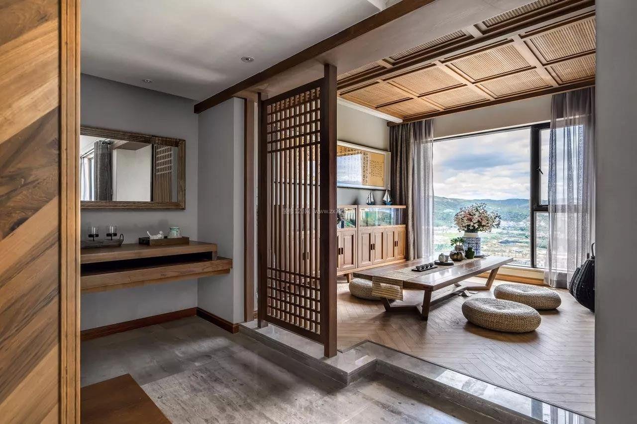 2018新中式豪宅客厅茶几装修效果图