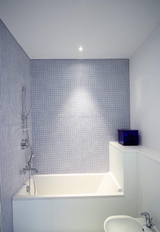 浴室墙面马赛克瓷砖紫色装饰效果图_装修123效果图