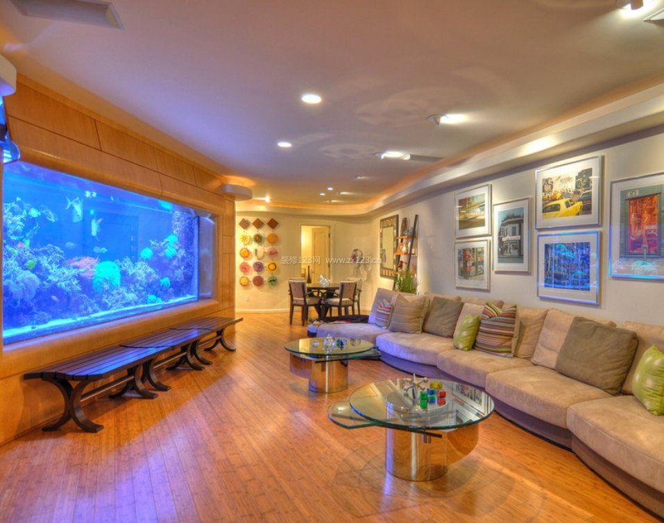 超大客厅鱼缸造景设计图欣赏