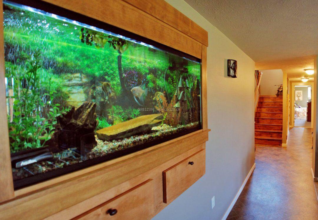 走廊过道鱼缸造景设计图欣赏